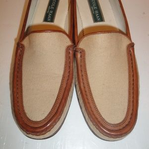 Cole Haan Tan/Brown Canvas/Leather Loafer